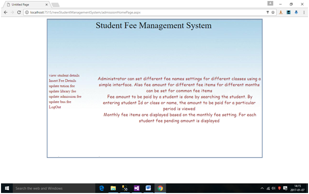 Software Requirements Specification for Student Management