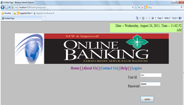Online Banking  Net Project Abstract, Report and Source Code