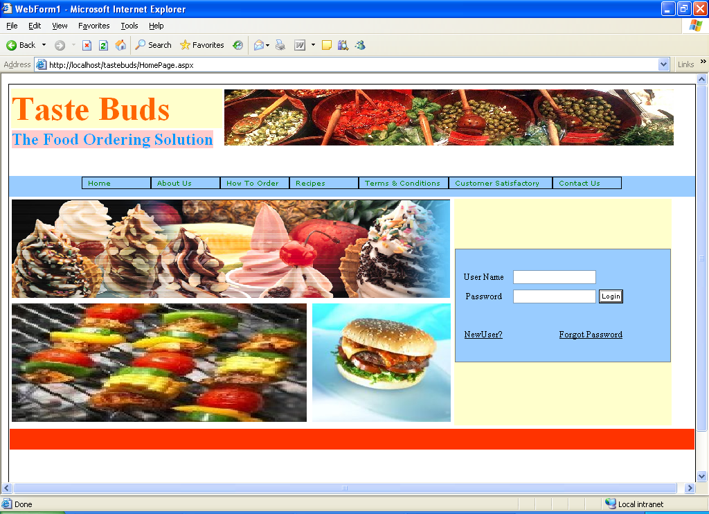 Taste Buds – The Food Ordering Application  Net Project - 1000 Projects