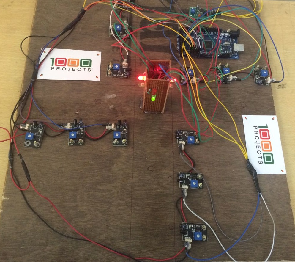 Density Based Traffic Control System Using Ir Sensors 1000 Projects