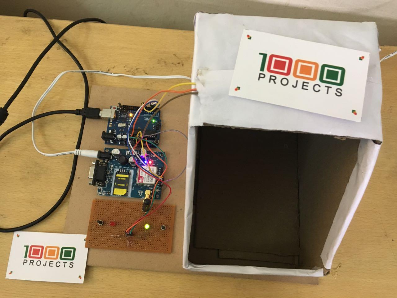 GSM Based Smart City garbage Bin Monitoring System – 1000