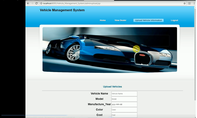 Vehicle Management System Java Project – 1000 Projects