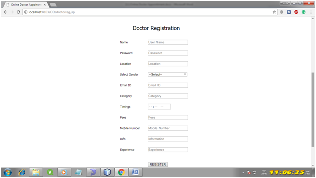 Online Doctor Appointment System Java Project Code, Report