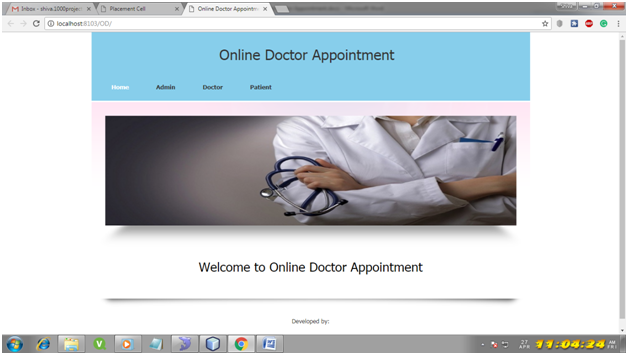 Online Doctor Appointment System Java Project – 1000 Projects