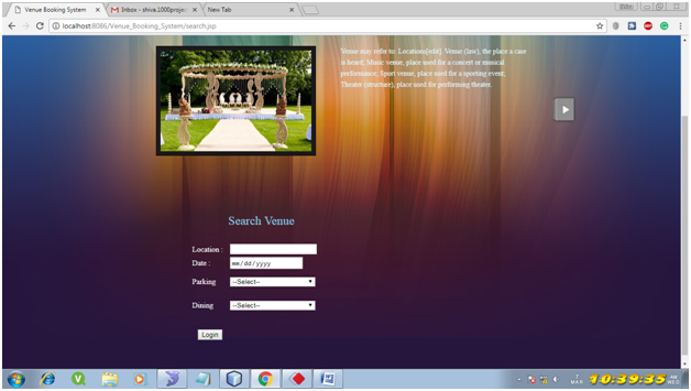 Venue Booking System Java Project – 1000 Projects