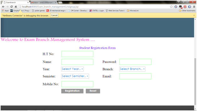 Exam Branch Management System Java Project – 1000 Projects