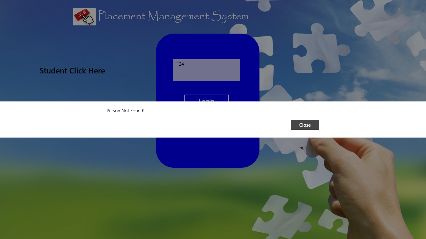 Placement Management System C# with XAML Project Report