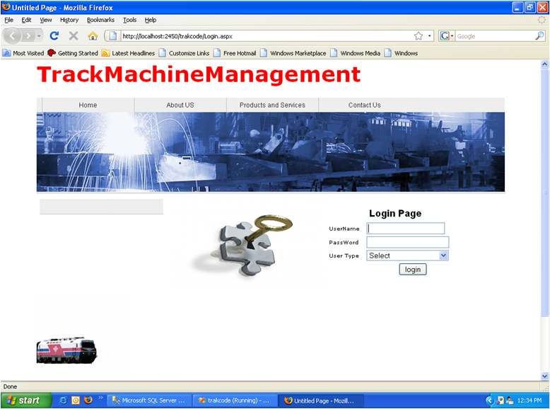Track Machine Management For Railways  Net Project Source Code