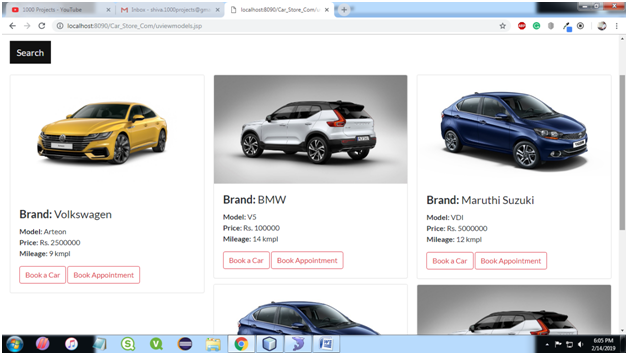 User Search Cars Page