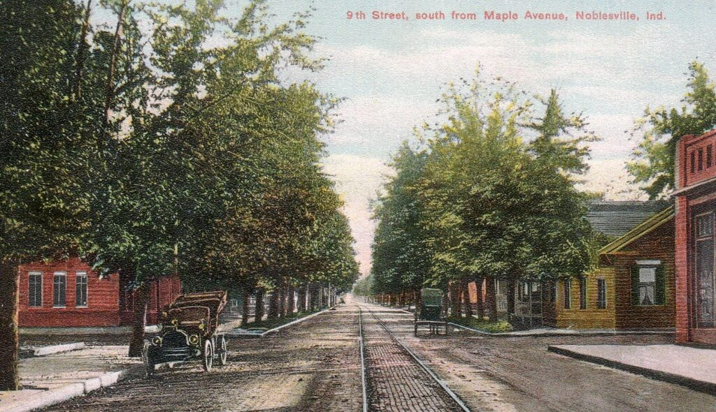 9th Street, south from Maple Avenue, Noblesville, IND (3)