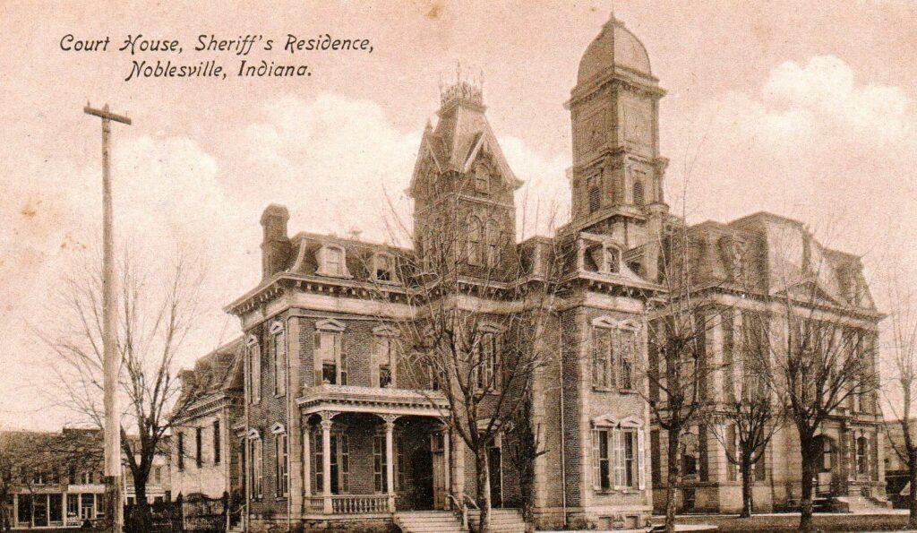Court House, Sheriff's Residence, Noblesville, Indiana (1908)-1