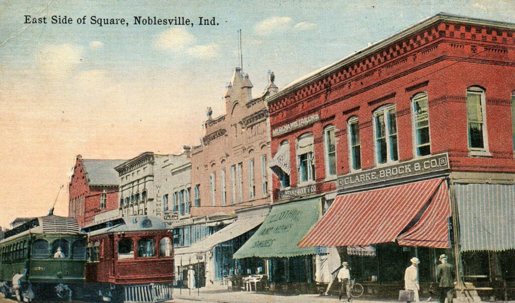 East Side of Square, Noblesville, Ind. (1914)