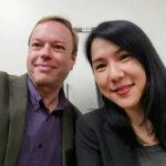 With Suki Kim in Laramie, Wyoming in October 2018
