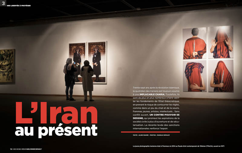 Artículo sobre Irán en GEO Francia y The New York Times