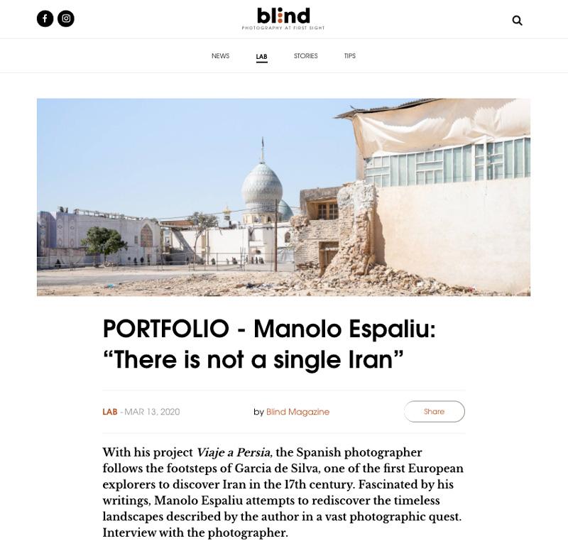 Entrevista en Blind Magazine sobre 'Viaje a Persia'