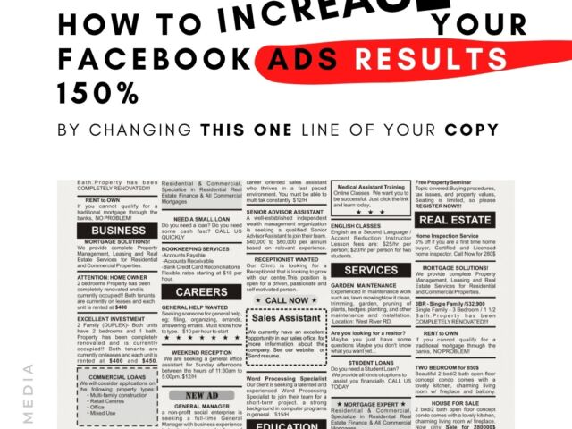 How To Increase Your Facebook Ads Results 150% By Changing This One Line Of Your Copy