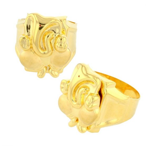 22ct Yellow Gold Men's Ring – Lord Ganesha Shape 01