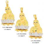 22ct Yellow Gold & CZ Stones Pendants - Shirdi Sai Baba Design Bundle 01 1