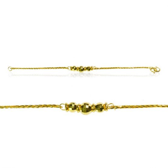 22ct Yellow Gold Baby Girl Bracelet - Fancy Design 01