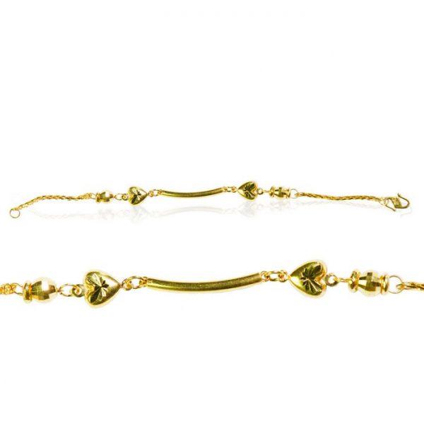 22ct Yellow Gold Baby Girl Bracelet – Fancy Design 02