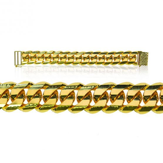 Men's Bracelet - Cowboy Style 22ct Yellow Gold 09