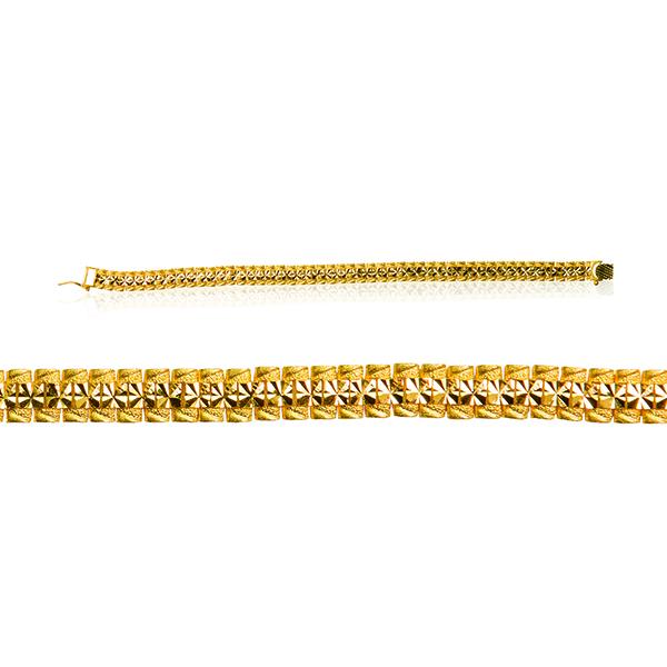 Men's Casting Bracelet - Rolex Style 22ct Yellow Gold 04