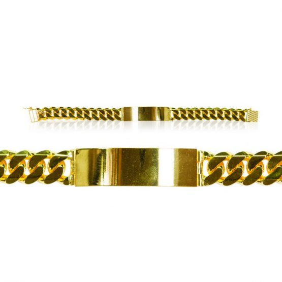 Men's Bracelet - Sachin style with Plate 22ct Yellow Gold 03