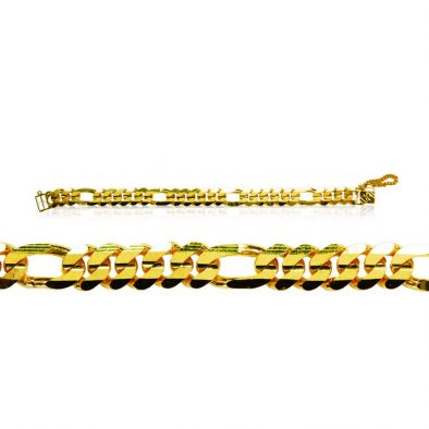 Men's Bracelet – Cowboy TKC Style 22ct Yellow Gold 10