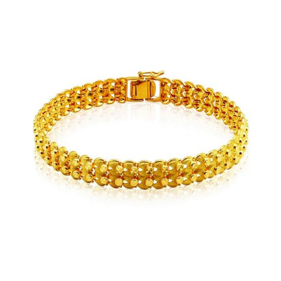 Men's Bracelet 22ct Yellow Gold 01