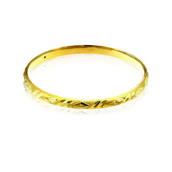 Ladies Hollow Bangle 22ct Yellow Gold 01