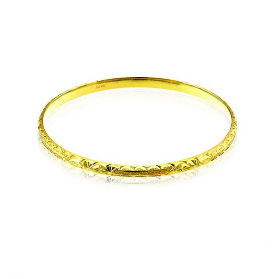 Ladies Hollow Bangle 22ct Yellow Gold 03
