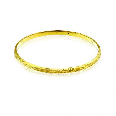 Ladies Hollow Bangle 22ct Yellow Gold 04