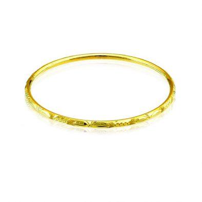 Ladies Hollow Bangle 22ct Yellow Gold 05