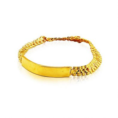 Men's Bracelet - with Plate 22ct Yellow Gold 04