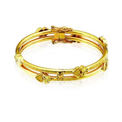 Ladies Clasp Bangle – Tube Design 22ct Yellow Gold 01