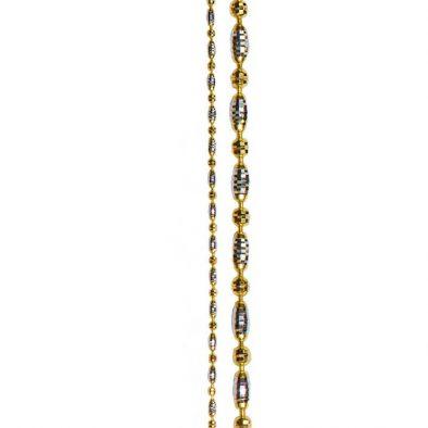 Ladies Chain – Fancy Design 22ct Yellow Gold & Rhodium 03