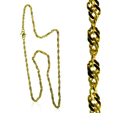 Ladies Chain – Fancy Design 22ct Yellow Gold 04