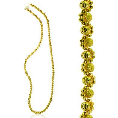 Ladies Chain – Fancy Ball Design 22ct Yellow Gold 02