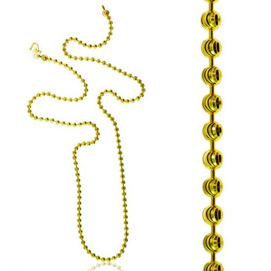 Ladies Chain – Fancy Ball Design 22ct Yellow Gold 03