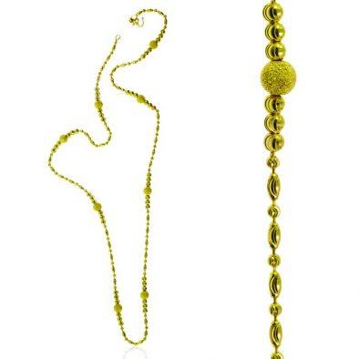 Ladies Chain – Fancy Ball Design 22ct Yellow Gold 06