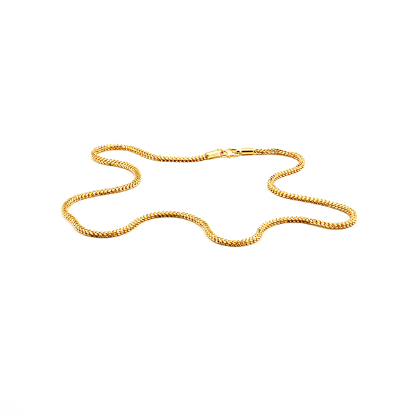22ct Yellow Gold Chain – Single Foxtail Style 09