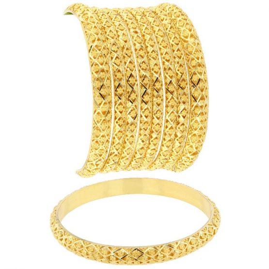 22ct Yellow Gold Ladies Bangle Set 10
