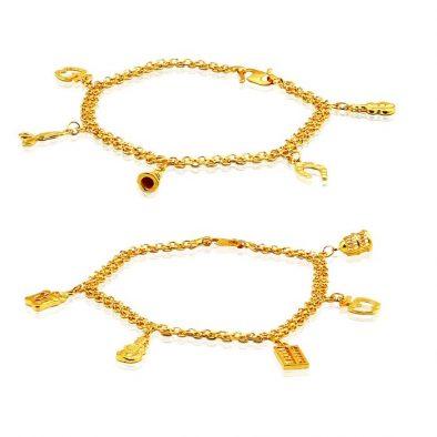 Ladies Charm Bracelets 22ct Yellow Gold Bundle 01