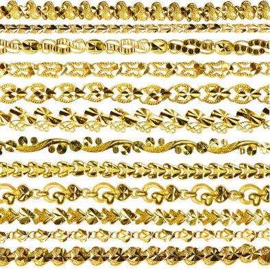 Ladies Single Sided Bracelets 22ct Yellow Gold Bundle 01