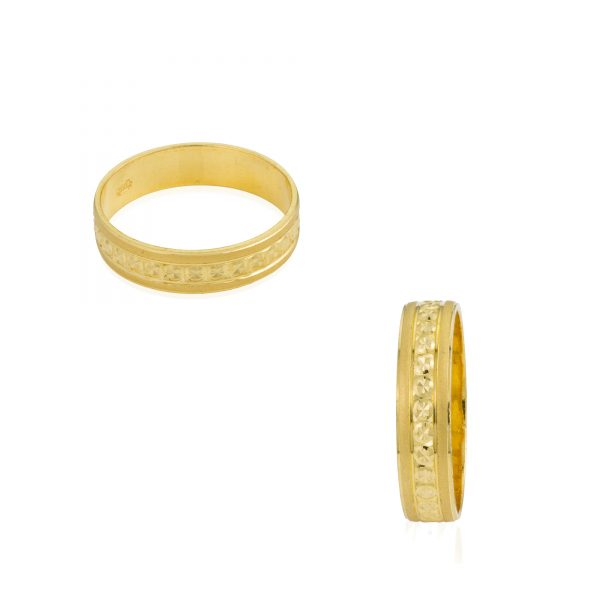 22ct Yellow Gold Wedding Band Ring 02