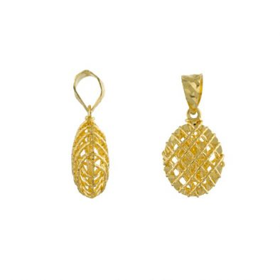 22ct Yellow Gold Ladies Pendant – Fancy Design / Oval Shape 03