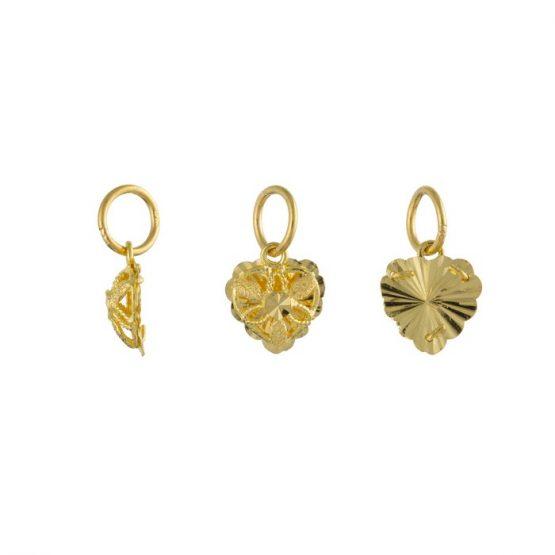 22ct Yellow Gold Ladies Pendant – Fancy Design / Heart Shape 03