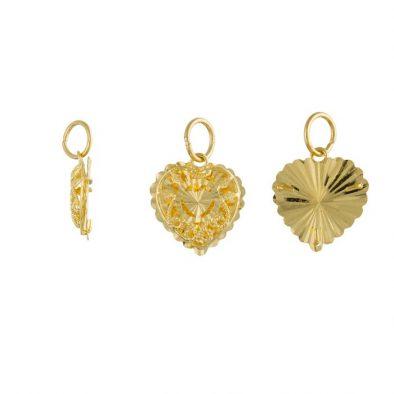 22ct Yellow Gold Ladies Pendant – Fancy Design / Heart Shape 01