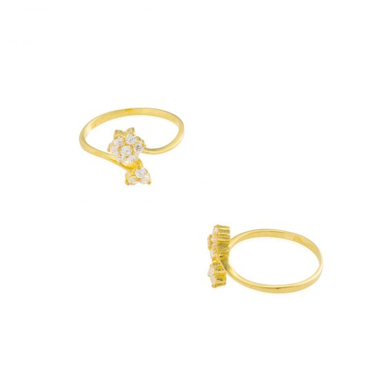 22ct Yellow Gold & CZ Stones Ladies Ring 18