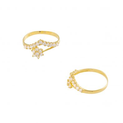 22ct Yellow Gold & CZ Stones Ladies Ring 25